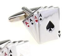 poker manschettenknöpfe großhandel-Manschettenknöpfe für Männer Poker Manschettenknöpfe Französisch Herren Hot Sell Manschettenknöpfe Manschettenknopf Schmuck Shirts für Herren Dacoration Weihnachtsgeschenk DHL frei