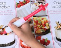 Wholesale Silicone Cake Decorating Pen - Food Grade Silicone Cake Cookie Decorating Pen Cylinder Design Cakes Piping Tools DIY Baking Tool Top Quality Bakeware 3kn R