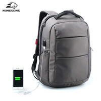 Wholesale Function Laptop Bags - Wholesale- Kingsons External Charging USB Function Laptop Backpack Anti-theft Man Business Dayback Women Travel Bag 15.6 inch