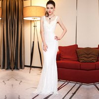 Wholesale Dress Wedding Suzhou - Wedding dress in suzhou foreign trade the new 2017 shoulders lace evening female bride handsome night party