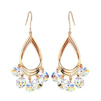 Wholesale Swarovski Jewelry Rose Gold - Jewelry Rose Gold Plated MADE WITH SWAROVSKI ELEMENTS Crystal Dangle Drop Neoglory Earrings for Women New For Women