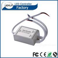 Wholesale Amplifier Rgb Dhl - 10pcs dhl free ip65 12V  24V 12A RGB Waterproof LED Amplifier Controller For SMD RGB modules LED Rigid flexible Strip Lighting