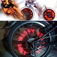 Wholesale Cool Bike Tires - Wholesale- 2017 New Hot Cool 7 LED Bicycle Bike Lamp Wheel Tire Spoke Valve Flash Letter Light Hot Search
