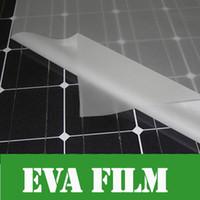 Wholesale Lamination Adhesives - eva adhesive film 5m x Width 1000mm thick 0.4mm EVA FILM for Solar Cell Encapsulation DIY Solar Lamination