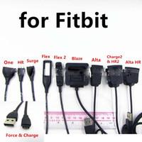 ingrosso picco di picco-Caricabatterie Cavo di ricarica per Fitbit Charge 2 Alta Flex HR Blaze HR One force surge Charge alta Flex 2 100pcs / lot