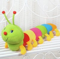 50CM / 19.6 inches Colorful Caterpillars Milênio Bug Boneca Plush Toys Baby Kids Grande Caterpillar Hold Pillow recheado Doll presentes crianças
