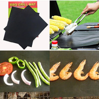Wholesale Outdoor Mat Large - BBQ Mat Large Size Barbecue Tool Silicone Barbecue Baking Bake Mat Oven Liner Reusable Non-Stick Cooking Grill Mats Outdoor Pad