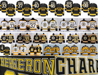 Wholesale Bergeron Jersey - Boston Bruins Hockey 4 Bobby Orr 33 Zdeno Chara 37 Patrice Bergeron 40 Tuukka Rask 46 David Krejci 63 Brad Marchand 88 David Pastrnak Jersey