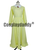 Wholesale Full Moving - Howl's Moving Castle Sophie Hatter Yellow dress Cosplay Costume F008