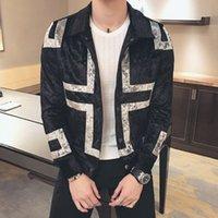 Wholesale Corduroy Jacket British - Wholesale- Mens Spring Jackets 2017 Bomber Jackets Luxury Jackets Mens Corduroy Velvet British Style Casaco Masculino Fashion Designer Slim