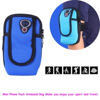 Wholesale Neoprene Sport Arm Bands - New Waterproof Outdoor Sports Running Wrist Pouch Mobile Phone Arm Band Bag Wallet for 4-6 inch Smart Phone Sweatproof Multifunction Pack