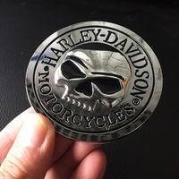 Wholesale Car Dark Red - motorcycle sticker 2016 New 3D Skull Alloy Metal Skeleton Crossbones Car Motorcycle Sticker Label Skull Emblem Badge Car styling 10pcs lot