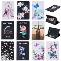 Wholesale Tower Case Stand - Tablet case For Samsung Galaxy Tab A 10.1 2016 T585 T580 Cover Wallet Stand Leather Case With Card Slot Painting Butterfly tower
