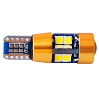 10pcs Nouveau Super Bright T10 LED Car Light 19 SMD 3030 Marqueur Lampe W5W 501 Stationnement Bulb Wedge Dome Light Auto Styling Blanc 12V