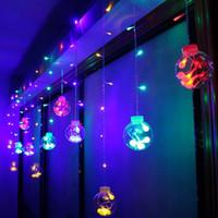 ingrosso rgb ha portato il globo-Globe String Lights 108LED bianco caldo scintillio luci con 8 modi Controller trasparente String Cable-per Party / Garden / Wedding Decor