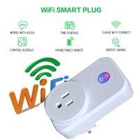 akıllı güç şeridi toptan satış-Akıllı Güç Tak Portatif Şerit Adaptörü Mini Akıllı Wifi Soket Uzaktan Kumanda Akıllı Akıllı Cihaz AB İNGILTERE ABD Plug Ile CE FCC RoHS