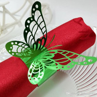 Wholesale butterfly napkins rings resale online - Hollow Out Butterfly Shape Napkin Rings Wedding Party Decor Lunch Tables Elegant Holder Essential Wedding Party Decoration rs H R