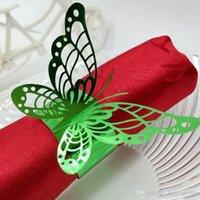 ingrosso anelli di tovagliolo farfalla nozze-Hollow Out Butterfly Shape Tovaglioli Anelli Decorazioni per feste di nozze Tavoli da pranzo Elegante titolare Decorazione essenziale per matrimoni 0 35rs H R