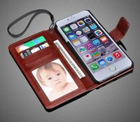 Wholesale Cover For Album - Hot Sale Iphone 7 Cell Phone Cases With Card Pocket Leather Case Album Phone Back Cover with wallet