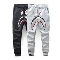 Wholesale Women S Hip Hop Sweatpants - Men Hoodie Pants Hip-Hop Casual Trousers Popular Japan Style Pants Women Men's Casual Sweatpants Pants Shark Printing Thin Pant