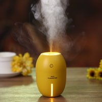 Wholesale Lemon Lights - Lemon Creative Ultrasonic Humidifier night light function Diffuser Aroma With Light Aromatherapy Electric Aroma Diffuser Mist Maker