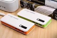 telefone celular do bloco de bateria venda por atacado-20000 mah power bank bateria externa para celular com 4 led luz com pacote de varejo frete grátis