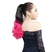 Wholesale Natural Hair Ponytail Piece - 1Pcs 22'' Natural Wave Wrap Around Synthetic Ponytail Hair Extensions Long Curly Women Fashion's Hair Pieces