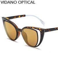 Wholesale Top Brand Optical Glass Frame - Vidano Optical Top Quality New Fashion Cat Eye Sunglasses For Men & Women Sun Glasses Cateye Eyewear Designer Brand Shades Eyeglasses UV400