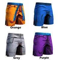 Wholesale Men Cartoon Pants - Dragon Ball Z Men Quick dry Trouser Cosplay Son Goku Vegeta Trunks Goku Piccolo Summer Middle Pants High Flexibility Sportwear