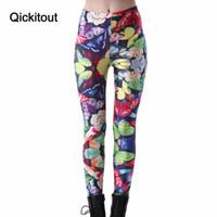 kelebek flutter toptan satış-Toptan-Toptan Moda Ince kadın Korsan Kostüm Leggins Dijital Baskı Dövme Çarpıntı Kelebekler Pantolon