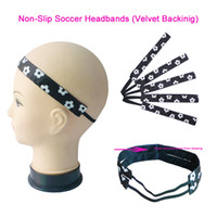Wholesale Wholesale Soccer Sweats - Non-Slip Velvet Soccer Football Sweat Headbands Sports Elastic Hair Band Gum For Hair Bands Sports Team
