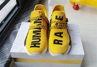Wholesale Drop Shipping Buying - Pharrell Williams NMD HUMAN RACE shoes for Mens Women In Black,White,Yellow,Green,Blue,White and Grey buy cheap Drop Free Shipping Eur 36-45