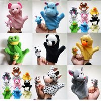 ручные куклы наборы оптовых-Палец руки кукольный набор головоломки раннего образования плюшевые игрушки Прекрасный мультфильм животных различных стилей воспитания игры куклы 22 см 3 6xl I1