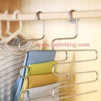Wholesale Multifunction Stainless steel Hanger Pants Clip Multi layer Hanger Wardrobe Multifunctional Storage Plus Size Fashion Pants Hang