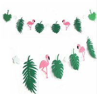Flamingo und Cocunut Blätter Garland Beach Banner Sommer Party Girlande Geburtstag Tropical Luau Pool Hawaiian Party Flamingle Dekorationen G921
