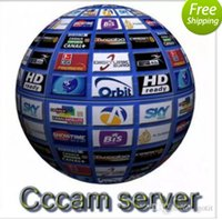 Wholesale Satellite Decoders - Europe CCcam 4 Clines Server HD 12 Months account for Spain Germany Italy Poland 1 year support cccam Satellite Decoder with AV Ca