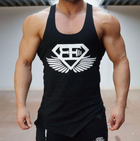 Wholesale Bodybuilding Muscle Shirts - The gym vest men stringer loa bodybuilding muscle sport shirt vest cotton sweatshirt Body Engineers plus size