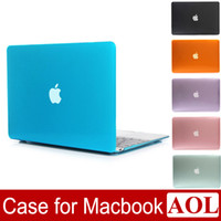 Wholesale macbook case covers - Crystal Clear Front + Back Protective Case Cover For Macbook 11 12 13 15 Air Pro Retina New Pro A1706 A1708 A1707 DHL free