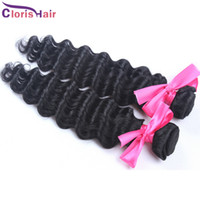 Wholesale Remi Curly - Awsome Mix Length 2pcs Unprocessed Curly Peruvian Deep Wave Remi Hair Extensions Wholesale Deep Curl Human Hair Bundles More Wave