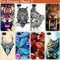 Venta al por mayor Doogee disparar 2 Cubierta de la caja de lujo de Diy Tiger Owl Cat Rose Torre Eiffel UV pintado duro PC Back Cover para Doogee disparar 2 5.5