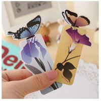 Wholesale 20 D Butterfly Bookmark For Beautiful Birthday Christmas Gift Book Mark Office School Supplies exquisite stationery
