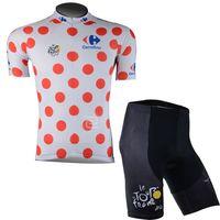 ingrosso set di pullover ciclismo tour france-Maglia da ciclismo squadra 2017 Tour De France Set manica corta Quick Dry Bike Wear Uomo Outdoor Cycling XS-4XL