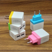 Universal 5V 2A EU US Double port usb plug chargeur mural Candy AC Power wall chargeur pour sumsang s8 iphone 7