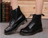 Wholesale Mans Martens - Newest leather boots Winter ankle Style Dr. Genuine Leather Marten Boots Martin Shoes Men&Women Dr Designer waterproof Boots