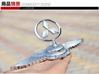 mitsubishi amblemleri amblemleri toptan satış-Mitsubishi Araba Krom Amblemi Rozeti