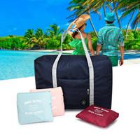 Wholesale Large Foldable Shopping Bag - Large Capacity Travel Foldable Storage Bag Gym Luggage Suitcase Shopping Organizer Bag Water Resistant Clothing Duffel Bag B