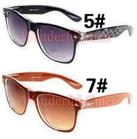 Wholesale Titanium Glass Frames Ladies - summer women colours frame driving spectacles fashion sunglasses ladies Cycling Sports Outdoor riding Sun Glasses 8 colors free shipping