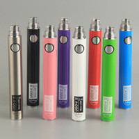 Wholesale Ecigarette Ego Batteries Passthrough - Evod ego UGO-V Version 2 battery micro usb Passthrough vaporizer ecigarette 650mah 900mah Bottom&Top Charge vape batteries
