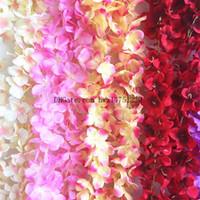 Wholesale Hanging Room Decorations Wedding - 2017 simulation flower rattan hydrangea rattan wedding wedding fake flower ceiling rattan bedroom living room decoration flower