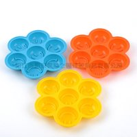 Wholesale Christmas Jelly Moulds - Smile Face Pudding Jelly Silicone Tray Maker Mould DIY Household Ice Mold Cake Baking Tool